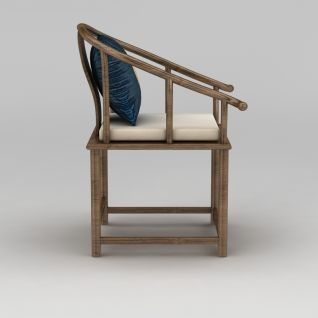 中式圈椅3d模型3d模型