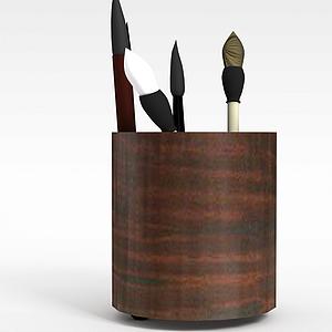 毛笔筒模型