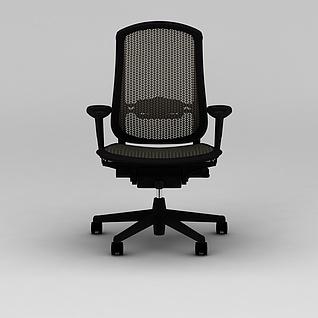 员工办公椅3d模型