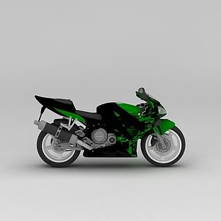 摩托车3d模型3d模型
