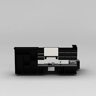 黑色橱柜3d模型