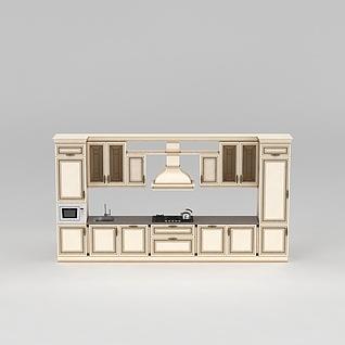 精品橱柜3d模型