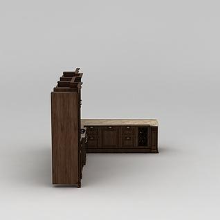 高端橱柜3d模型