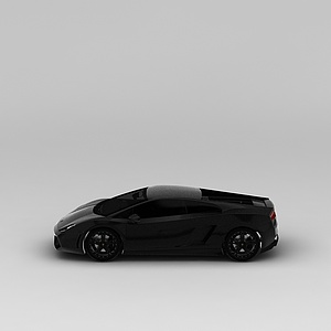 3d黑色<font class='myIsRed'>跑车</font>模型