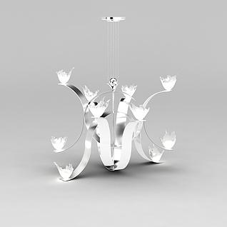 花形吊灯3d模型