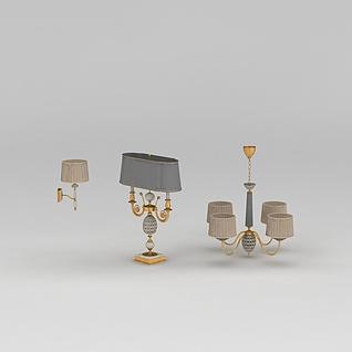 欧式豪华灯具3d模型