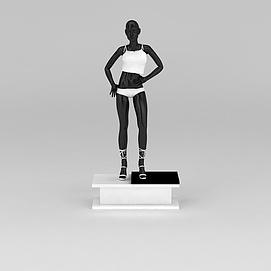 服装店模特架模型
