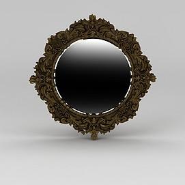 雕花镜子模型