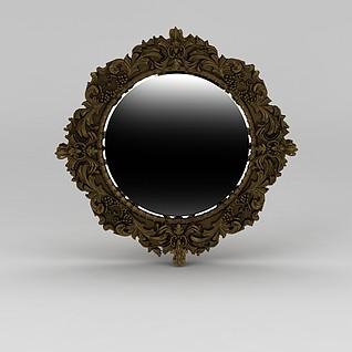 雕花镜子3d模型