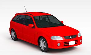 3d紅色小<font class='myIsRed'>汽車</font>模型