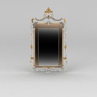 精品梳妆镜3d模型