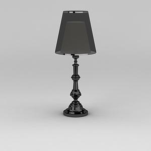 黑色精品台灯模型