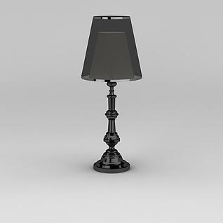 黑色精品台灯3d模型3d模型