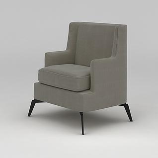 单人沙发椅3d模型3d模型