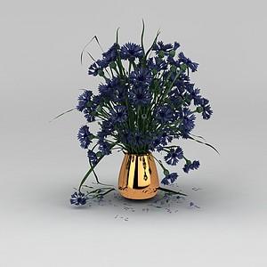 鲜花花瓶模型