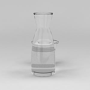 玻璃水壶模型