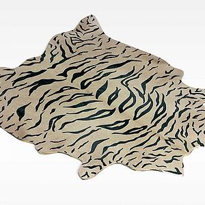 仿真虎皮毯子模型