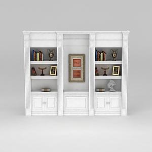 简欧厅柜模型