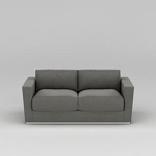 灰色布艺沙发3d模型3d模型