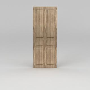 原木门3d模型
