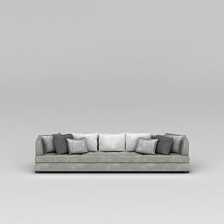 大户型客厅沙发3d模型3d模型