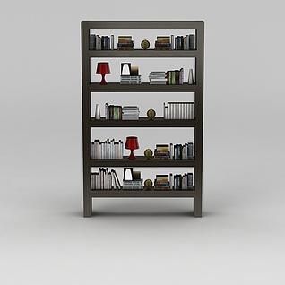 书房小型书架3d模型