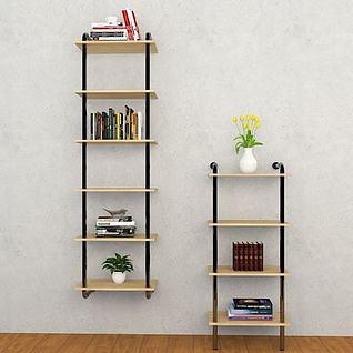 梯子书架3d模型
