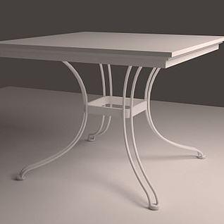 休闲风方桌3d模型