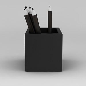 简约笔筒模型