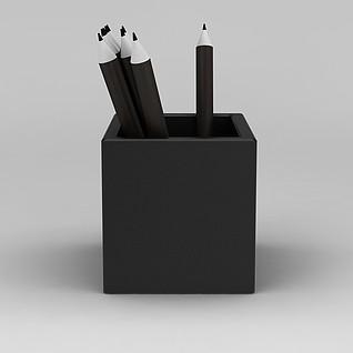 简约笔筒3d模型3d模型