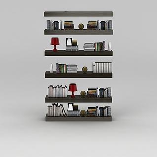 墙壁书架3d模型3d模型