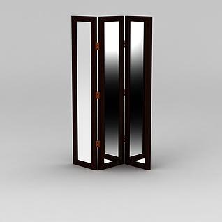 镜子屏风3d模型