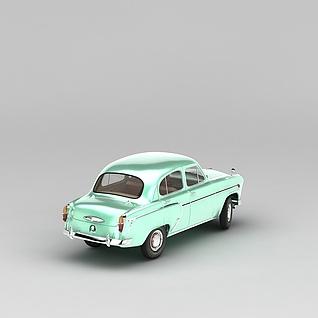 复古小轿车3d模型3d模型