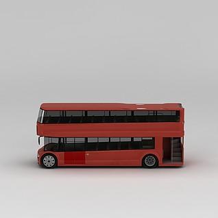 双层公交车3d模型3d模型