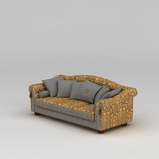 长沙发3d模型3d模型