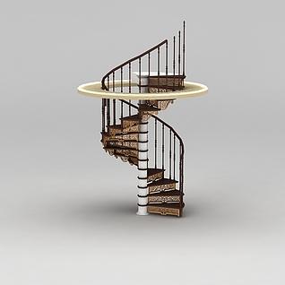 别墅楼梯3d模型3d模型