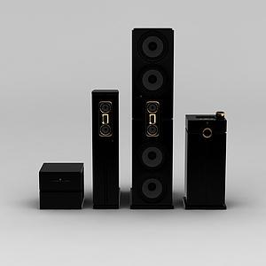 组合音响模型3d模型