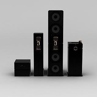 组合音响3d模型3d模型