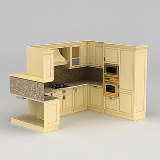 整体橱柜3d模型