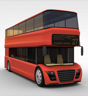3d双层公交车模型