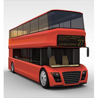 双层公交车3d模型