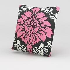 粉色印花抱枕模型3d模型