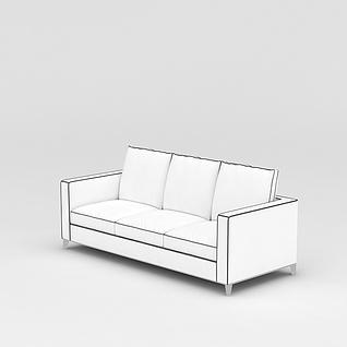 白色简约沙发3d模型3d模型