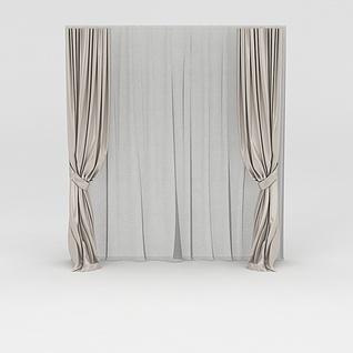 窗帘3d模型3d模型