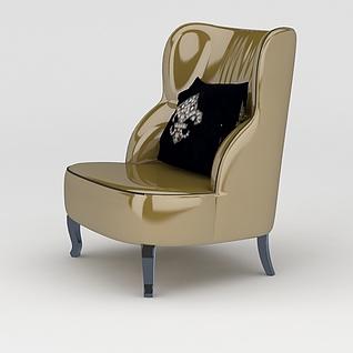 亮面沙发椅3d模型3d模型