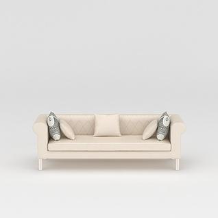 现代简约沙发3d模型3d模型