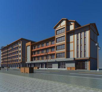 中式沿街改造建筑