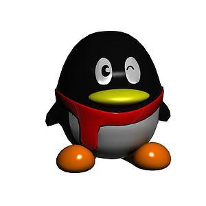卡通企鹅模型