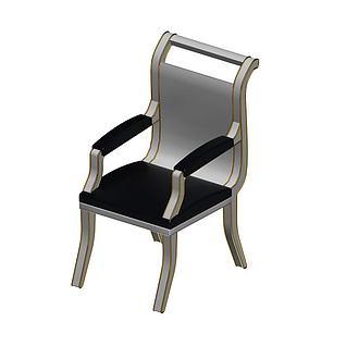 金属椅子3d模型