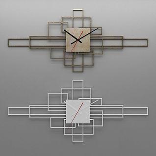 钟表墙饰3d模型